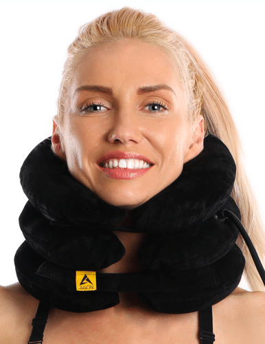 Agon Best neck traction device support brace travel pillow & flights cushion
