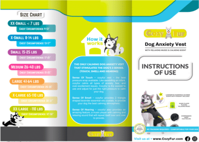 brochure size chart cozyvest