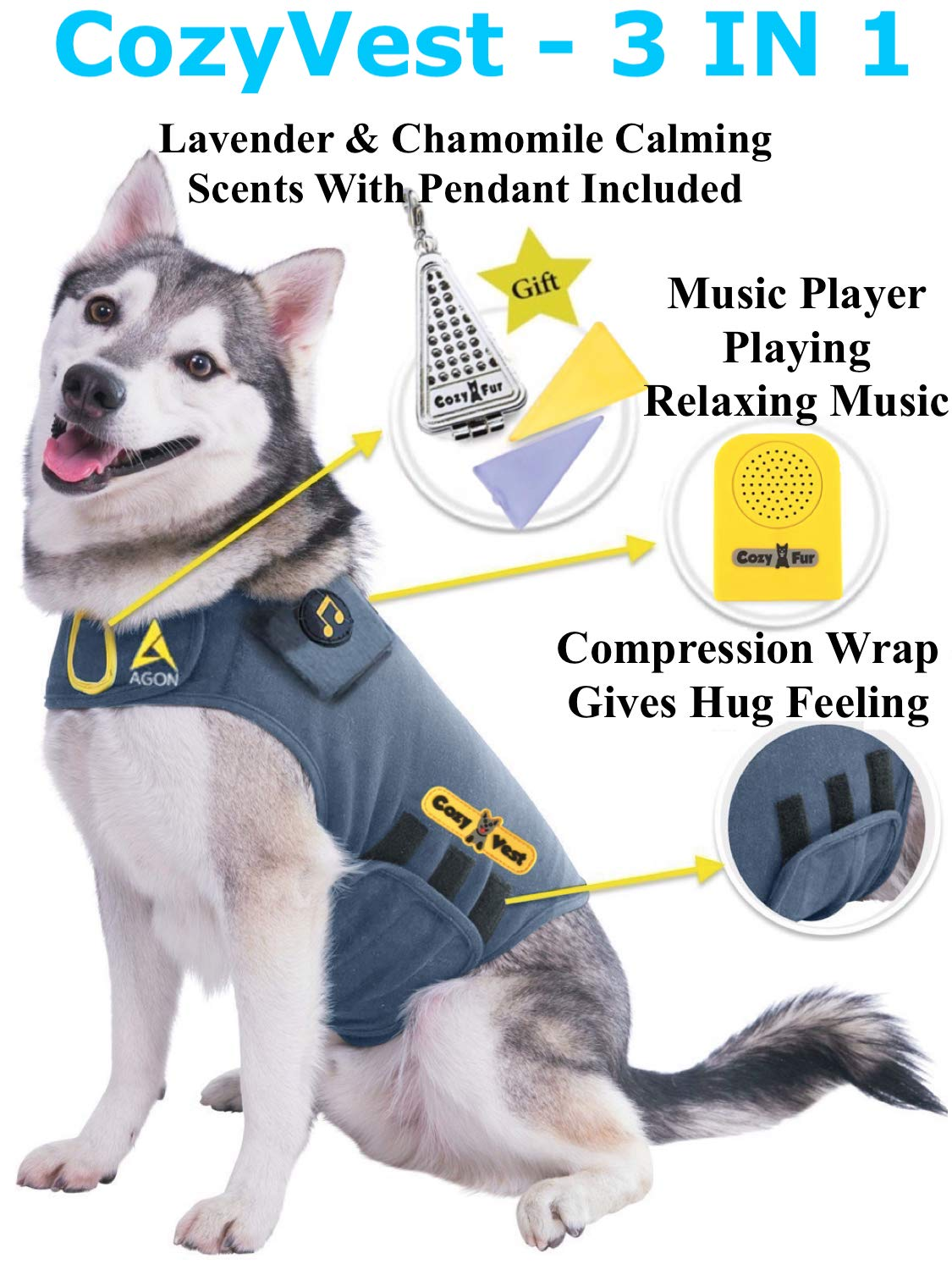 CozyVest Thunder jacket for dogs